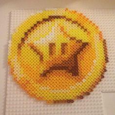 Star coin Super Mario Bros perler bead sprite by  thebeadspriteking