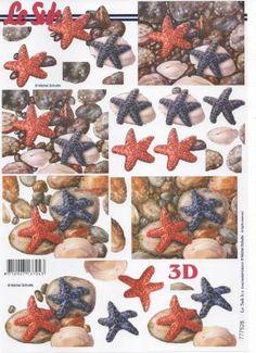 Feuille 3D étoile de mer http://fournitures-loisirs.les-creatifs.com/feuilles-3d.php?refer=Etoile-de-mer-3D Feuilles à découper motif étoile de mer pour vos albums de scrapbooking, vos cartes de fêtes ou carton d'invitation Format A4 21 cm x 29,7 cm pour réaliser des tableaux 3D  Pour la réalisation de tableaux 3D :