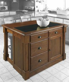Rustic Recycling Center Kitchen Island