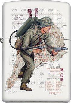 Iwo Jima Custom Zippo design
