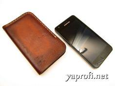 Кожаный чехол для смартфона своими руками