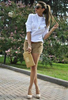 Love tan/white