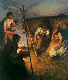 The Harvesters' Supper - Henry Herbert La Thangue
