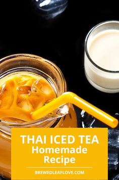 If you want to make thai iced tea authentic just like you get in a thai restaurant, you can DIY your own at home with this delicious thai iced tea recipe. Here's how to make authentic thai iced tea just like you get when you're at a thai restaurant. Milk Tea Recipes, Iced Tea Recipes, Easy Recipe To Make At Home, Food To Make, Green Tea Drinks, Green Teas, Thai Milk Tea, Thai Ice, Tea And Books