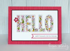 "Lisa's Creative Corner: Dreamin' Big ""Hello"" Card"