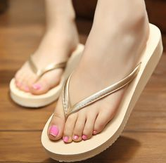 NEW Summer Fashion PU Leather Flip Flop Sandals 3 Color Options Available Platform Flip Flops, Wedge Flip Flops, Beach Flip Flops, Flip Flop Shoes, Purple Toes, Bridal Flip Flops, Womens Summer Shoes, Leather Flip Flops, Leather Sandals