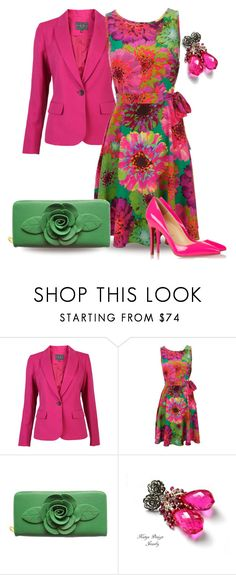 Floral Dress by yasminasdream on Polyvore featuring Wallis and Christian Louboutin