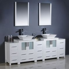 Website With Photo Gallery Find this Pin and more on basement bathroom Fresca Torino White Modern Double Sink