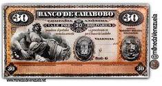Billete de 30 Bolívares Banco de Carabobo C.A. Año 1883