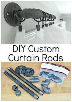 Easy DIY Curtain Rods 2019 Check out these rustic DIY custom curtain rods using black pipe and curtain clips. They're a quick and easy alternative to store expensive store bought rods. The post Easy DIY Curtain Rods 2019 appeared first on Curtains Diy. Industrial Curtains, Rustic Curtains, Diy Curtains, Industrial House, Farmhouse Curtain Rods, Rustic Curtain Rods, Outdoor Curtains For Patio, Industrial Windows, Black Out Curtains Bedroom