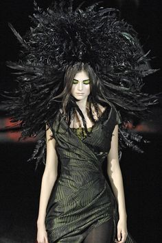 Alexander McQueen Fall 2007 Collection In Memory of Elizabeth Howe persecuted during the Salem witch trials of 1692.