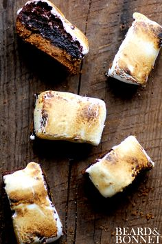 Make easier with TJ's Gluten Free Brownie Mix!  Gluten-Free Smore's Brownies {Beard and Bonnet} #glutenfree #projectlunchbox