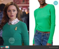 2aa86104bf Cassandra s green cable knit sweater