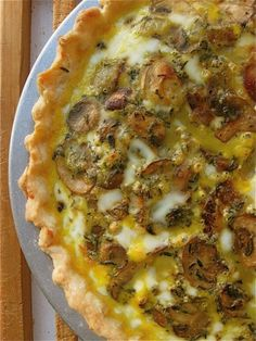 Recipe For Mushroom-Cheddar Quiche - Pie doesn't have to be sweet. And when it's not, it's often called – you guessed it – quiche. If you can read, you can bake, It's easy as… well, as pie.