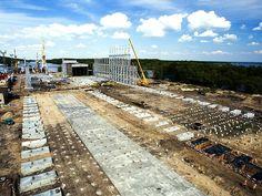Budowa Zakładu Seryjnej Produkcji Wielkogabarytowych Konstrukcji Stalowych.