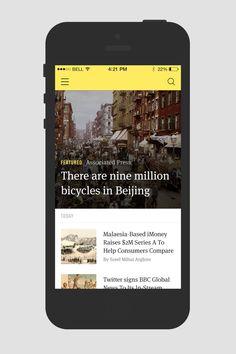 News Reader iOS7 Application Template by Sorel Arghire, via Behance