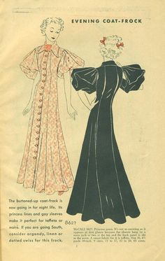 McCall Style News, February 1936 featuring McCall 8627