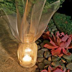 DIY: screen-wrapped luminaries