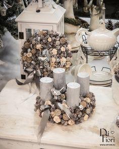 Christmas wreath, table decoration + door hanger bundle / Adventi koszorú és kopogtató
