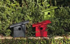 Birdhouses -- so much easier to make with this kind of roof. Easy to clean out if you hinge one side of the roof and put a hook/closure on the other side.