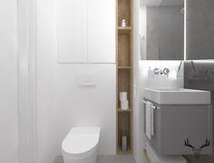 Łazienka, minimalizm, szary, beton, biel, drewno, Toilet, Cabinet, Bathroom, Storage, Furniture, Design, Home Decor, Clothes Stand, Washroom