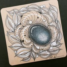 "352 Likes, 18 Comments - Rebecca Kuan CZT (@rebeccasecretbox) on Instagram: ""Zentangle Gems - ZIA 032817. Artwork from Rebecca Kuan - #rebeccasecretbox Welcome to visit my FB…"""