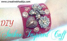 Creative Khadija Round Up Velvet Ribbon, Skin So Soft, Craft Tutorials, Metal Jewelry, Cool Things To Make, Cuff Bracelets, Crafts For Kids, Jewelry Making, Bling
