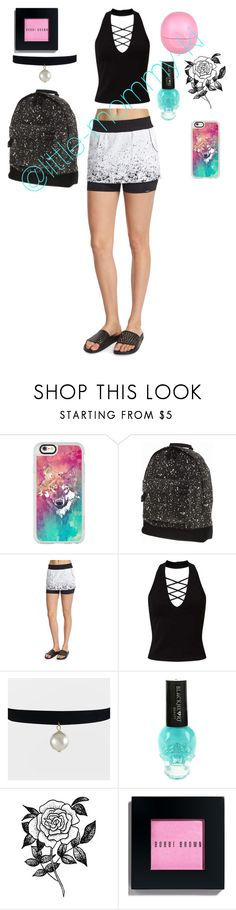 """""""Untitled #9"""" by little-mommy-ki ❤ liked on Polyvore featuring Casetify, Mi-Pac, Koral Activewear, Miss Selfridge, Forever 21, Bobbi Brown Cosmetics, River Island and paintsplatter"""