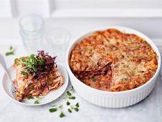 Nopea tortillalasagne Risotto, Food And Drink, Pasta, Cooking, Ethnic Recipes, Book, Lasagna, Kitchen, Book Illustrations
