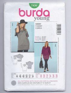 Burda Sewing Pattern 7456 PLUS Womens by brownmouse60 on Etsy