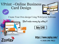 Vprint is a clone of Vistaprint which is an online web2print solutions of printed and promotional and marketing materials to small businesses and customers experts in print on demand products.Here you can create your own design by using this software. For more info: https://www.zoplay.com/web/vprint-online-business-card-design/