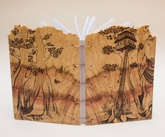 treehouse notebook wooden covers by Lemnivor on Etsy Treehouse, Bookbinding, Boxes, Notebook, Etsy, Crates, Box, Cases, Tree Houses