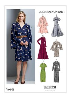 Butterick sewing pattern 6254 Misses/'s Outdoor manteau robe