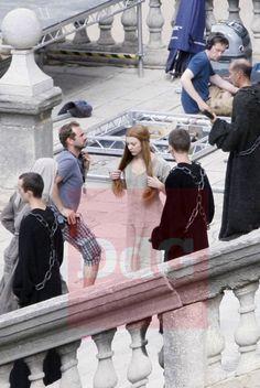 Bastidores das gravações da sexta temporada de Game of Thrones - Catedral de Girona, Espanha.  #Margaery #GOT #seriados #HBO #series #geek
