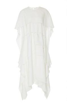 Crepe Cape Dress by Adeam | Moda Operandi