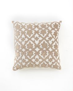 """Ivory & Taupe """"Venice"""" Collection Pillows - Horchow"""