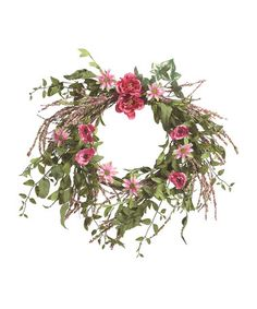 Another great find on #zulily! Faux Pink Ranunculus Wreath #zulilyfinds