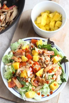Mango Cashew Chicken Salad. Use gf soy sauce