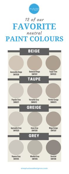 favorite neutral paint colours