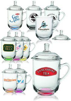 Glass Mugs with Lids