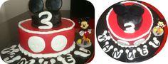 O bolo do 3º aniversário do sobrinho Manuel (o Mickey na festa de família)