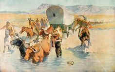 Image detail for -... by Artist > Remington Frederic > Frederic Remington - The Emigrants