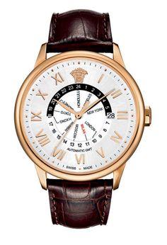Versace Mens 30A80D002 S497 Business GMT Watch