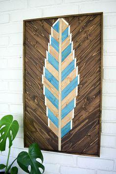 Reclaimed Wood Wall Art Wooden Wall Art Geometric Wood Art