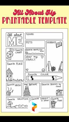 All About Me Activities, First Day Of School Activities, 1st Day Of School, Beginning Of The School Year, School Fun, School Ideas, 2nd Grade Classroom, School Classroom, Classroom Activities