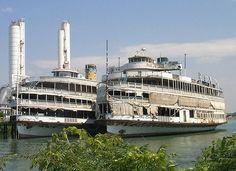 Former Boblo island ferries. Abandoned Detroit, Abandoned Ships, Abandoned Places, Detroit Ruins, Abandoned Houses, State Of Michigan, Detroit Michigan, Michigan Facts, Boblo Boat