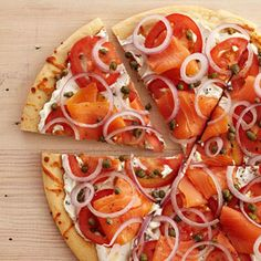 Smoked Salmon Breakfast Pizza--made this for dinner tonight! We both LOVED it----followed all directions and put it back in oven for 2 minutes (we wanted warm pizza--not cold).  --Liz