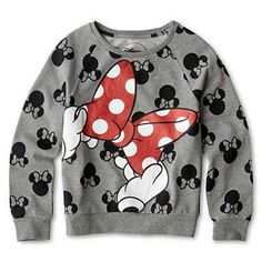 Minnie Mouse Big Bow Sweatshirt. #MinnieStyle
