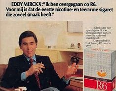 Eddy Merckx. Tobacco endorsement