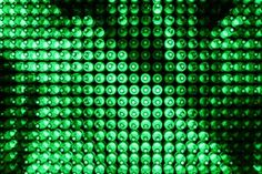 Heineken LED Bottle Wall Up Close | Alcoholic Drink